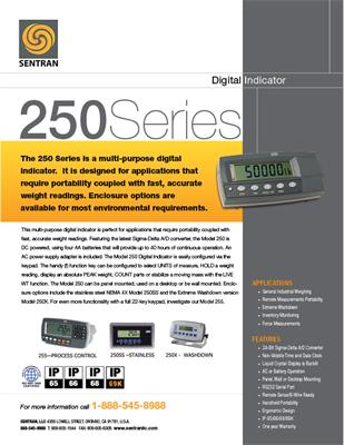Datasheet on 250 (Digital Indicator