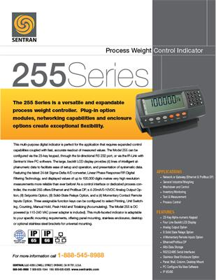 Datasheet on 255 (Digital Weight Controller