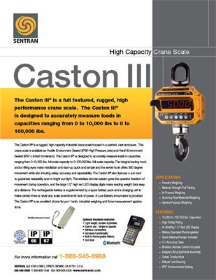 Datasheet on Caston III (Crane