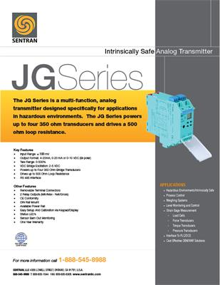 Datasheet on JG (Hazardous Environment