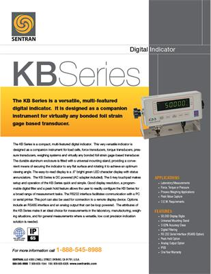 Datasheet on KB (Digital Indicator