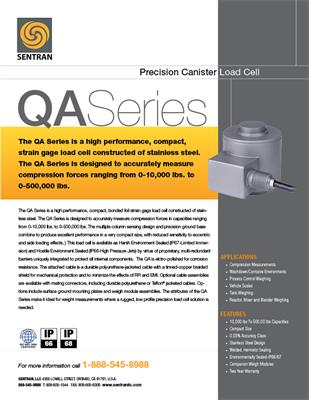 Datasheet on QA (Canister