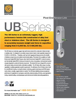 Datasheet on UB (90° Pivot End