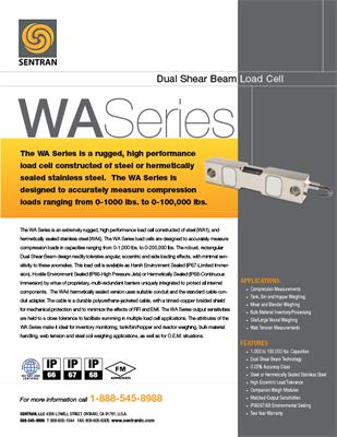 Datasheet on WA (Dual Shear Beam
