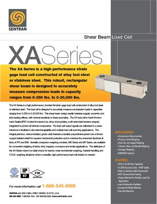 Datasheet on XA (Shear Beam