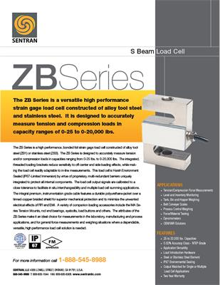 Datasheet on ZB (S Beam