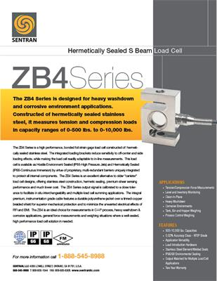 Datasheet on ZB4 (S Beam