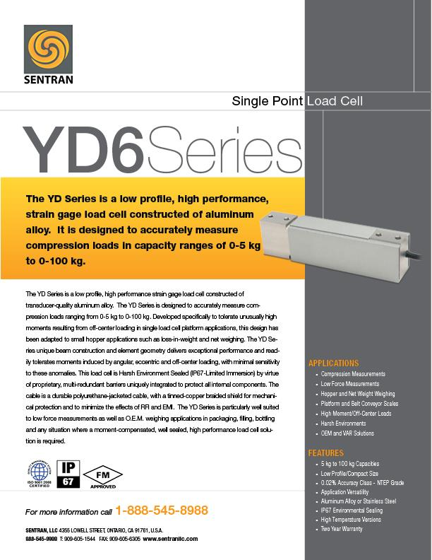 Datasheet on YD6 (Single Points