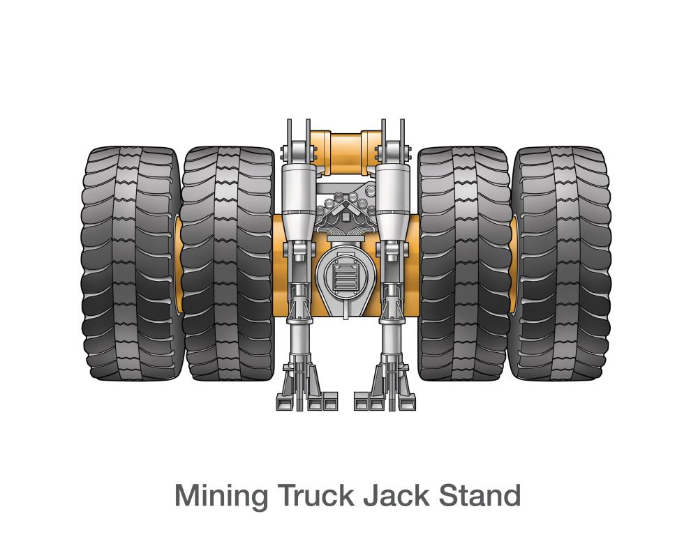 Mining Truck Jack Stand