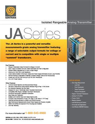 Datasheet on JA (Analog