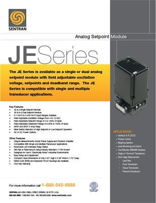 Datasheet on JE (Setpoint Module