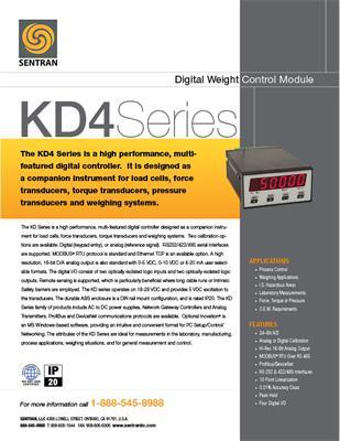 Datasheet on KD4 (Digital Weight Controller