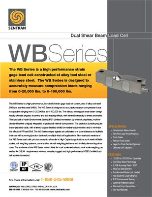Datasheet on WB (Dual Shear Beam